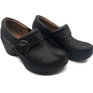 Bjorndal allana black leather clogs